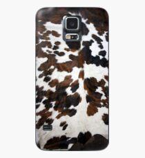 Tan, schwarz und weiß | Textur Hülle & Klebefolie für Samsung Galaxy