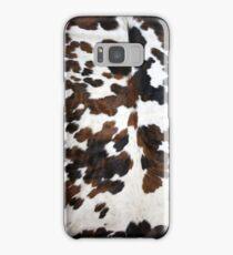 Cowhide Tan, black and white   Texture Samsung Galaxy Case/Skin