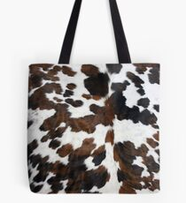 Cowhide Tan, black and white | Texture Tote Bag