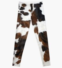 Cowhide Tan, black and white | Texture Leggings
