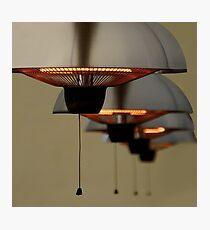 Warmup lamps Photographic Print