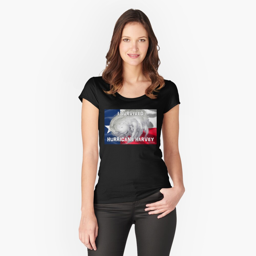 I Survived Hurricane Harvey Women's Fitted Scoop T-Shirt Front