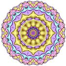 Pastel Mandala by Ruth Moratz