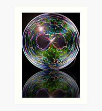 Neon sphere Art Print