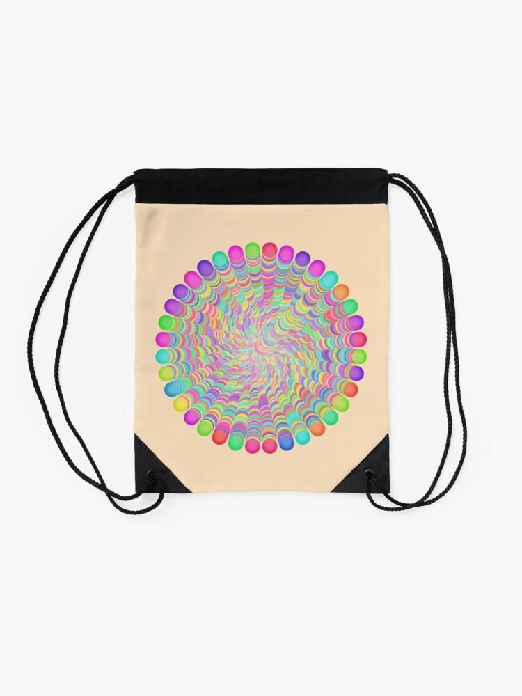 Alternate view of Random Color Generation Drawstring Bag