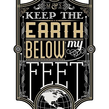 Mumford Typography (earth)(Sticker) by JoshuaStorms