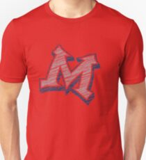 Miller M (Grey & Navy) Unisex T-Shirt