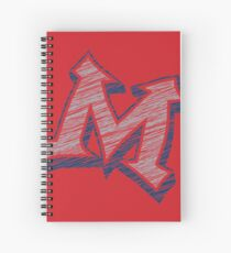 Miller M (Grey & Navy) Spiral Notebook