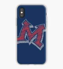 Miller M (Red & Grey) iPhone Case
