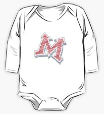 Miller M (Red & Grey) One Piece - Long Sleeve