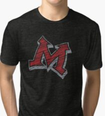 Miller M (Red & Grey) Tri-blend T-Shirt