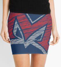 Miller M (Red & Grey) Mini Skirt