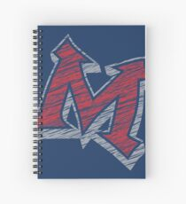 Miller M (Red & Grey) Spiral Notebook