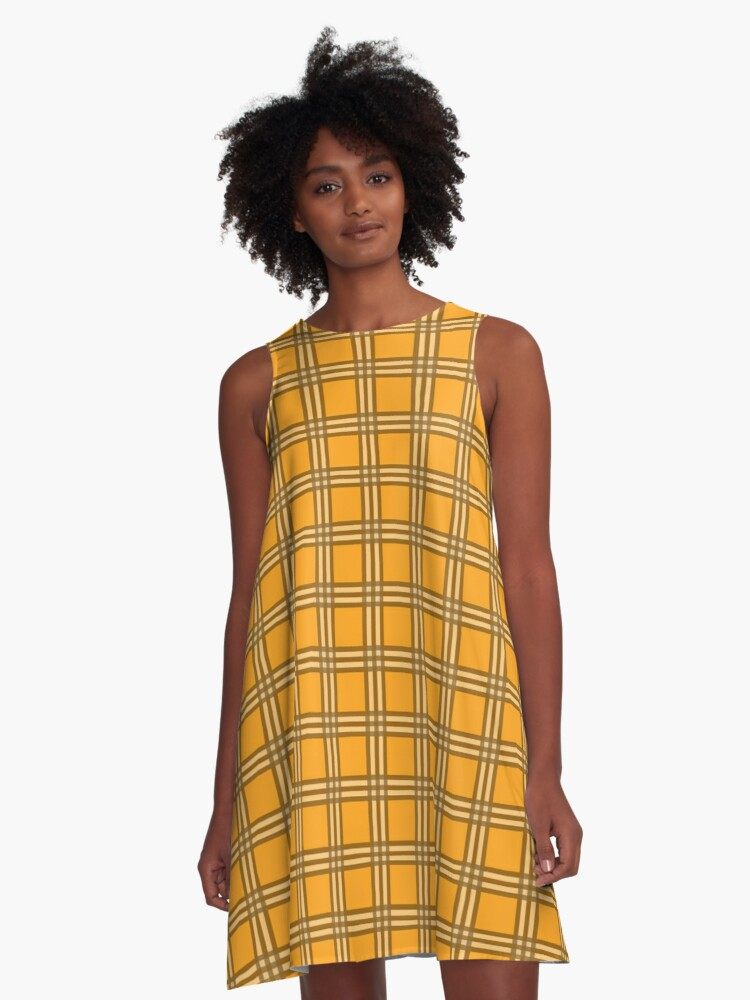 117e691662b Cher Clueless Yellow Plaid Pattern A-Line Dress. Designed by jerodrigues