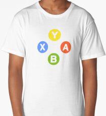 X Box Controller Symbol - Nerd Geek Video Games Play Station Xbox PC Gamer Long T-Shirt