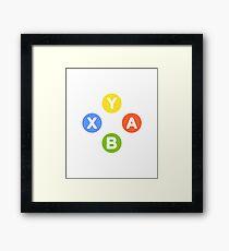 X Box Controller Symbol - Nerd Geek Video Games Play Station Xbox PC Gamer Framed Print