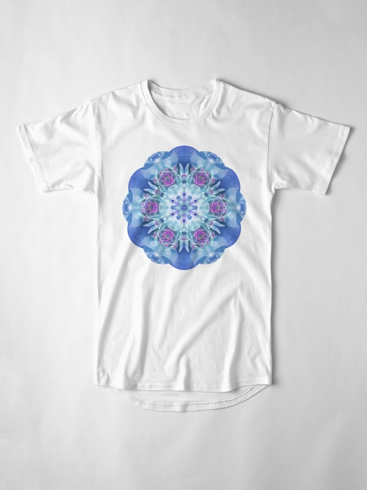 Alternate view of Royal Blue and Purple Mandala Long T-Shirt