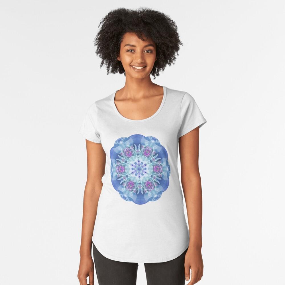 Royal Blue and Purple Mandala Women's Premium T-Shirt Front