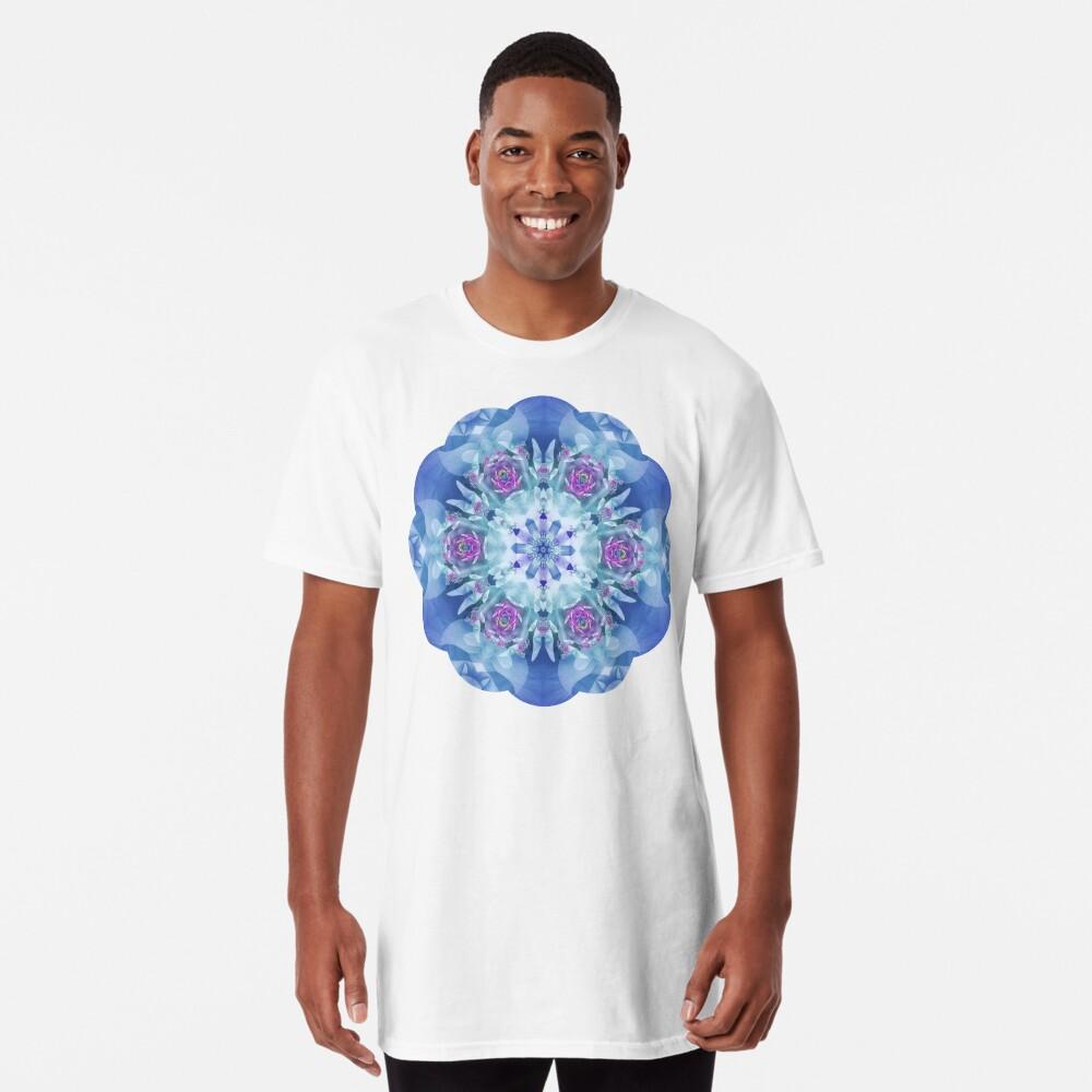 Royal Blue and Purple Mandala Long T-Shirt
