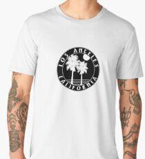 LOS ANGELES CALIFORNIA BLACK WHITE PALM TREES Men's Premium T-Shirt