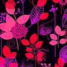 Foliage Raspberry & Musk [iPhone / iPod Case and Print] by Didi Bingham