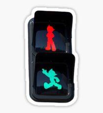 stop, go, astroboy Sticker
