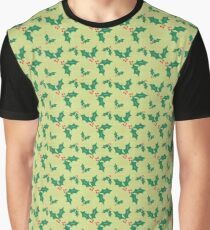 Holly Jolly Christmas Design Graphic T-Shirt