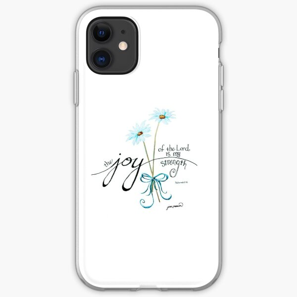 The Joy of the Lord is my Strength outline by Jan Marvin iPhone Soft Case