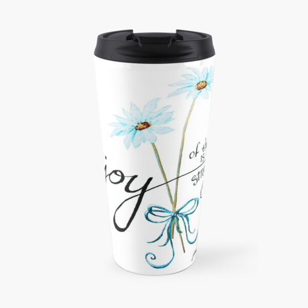 The Joy of the Lord is my Strength outline by Jan Marvin Travel Mug