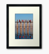 MONKS - MANDALAY Framed Print