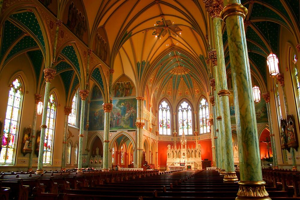 St. John's Cathedral.  Savannah, Ga by Chuck Lee