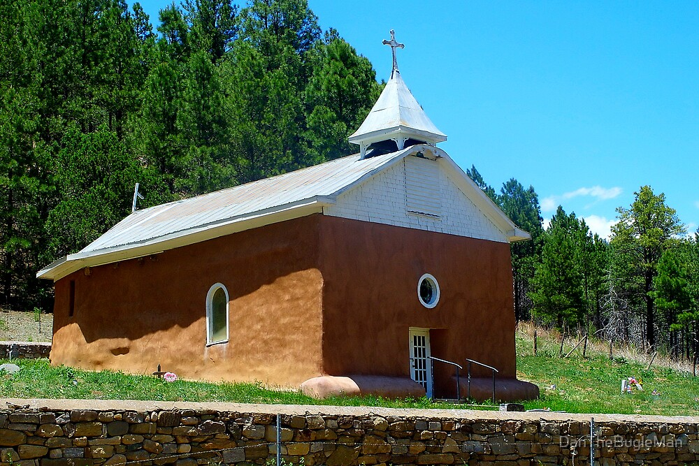 Old Church in Pecos NM by DanTheBugleMan