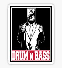 Thumbs up for drum and bass Sticker