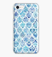 PAISLEY MERMAID Watercolor Scale Pattern iPhone Case/Skin