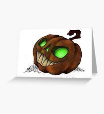 Spooky Halloween Jack-O-Lantern Greeting Card