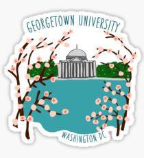 Georgetown Cherry Blossoms Sticker