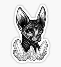 Galaxy Kat Black & White Sticker