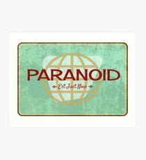 Paranoid Art Print