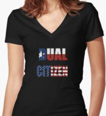 Dual Citizen  Women's Fitted V-Neck T-Shirt