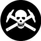 Architectural Jolly Rogers White Image (sticker only) by Bob Borson