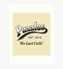 Puzzles Bar Kunstdruck