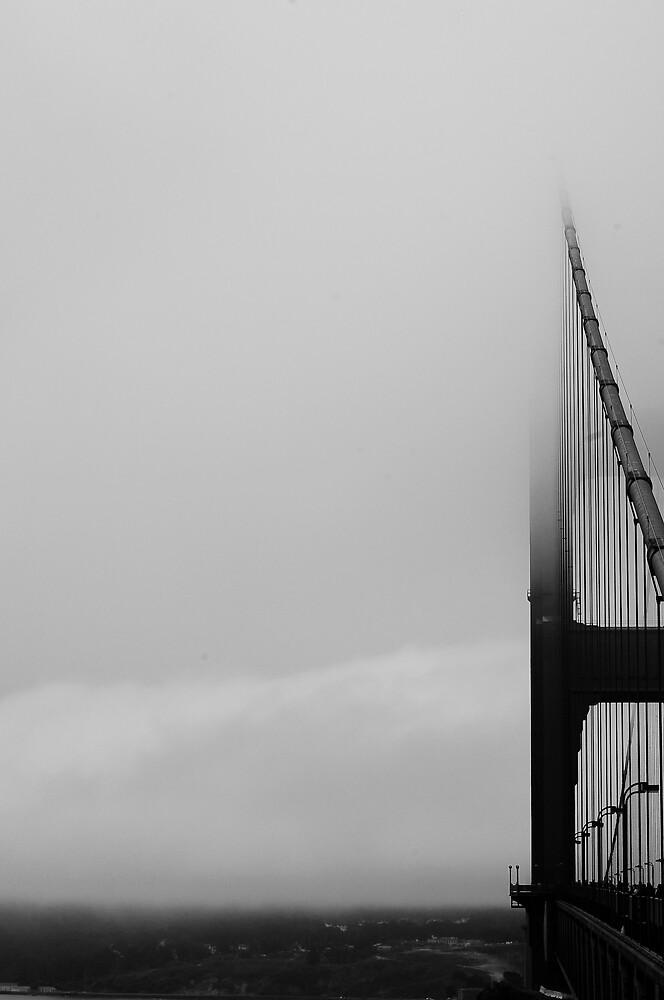 golden gate in fog by craigfraizer