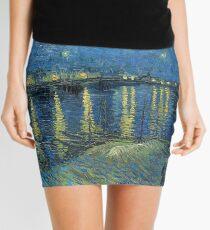 Minifalda La noche estrellada de Van Gogh sobre el Ródano
