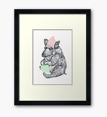 Mr Boar Knit Framed Print