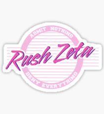 Rush Zeta- old row Sticker