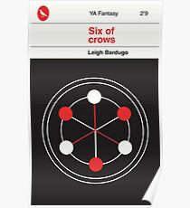 Six of Crows: Vintage Paperback Cover (No Texture) Poster
