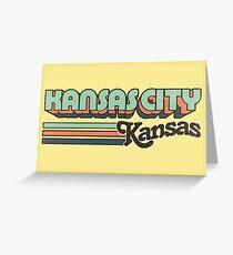 Kansas City, KS | City Stripes Greeting Card