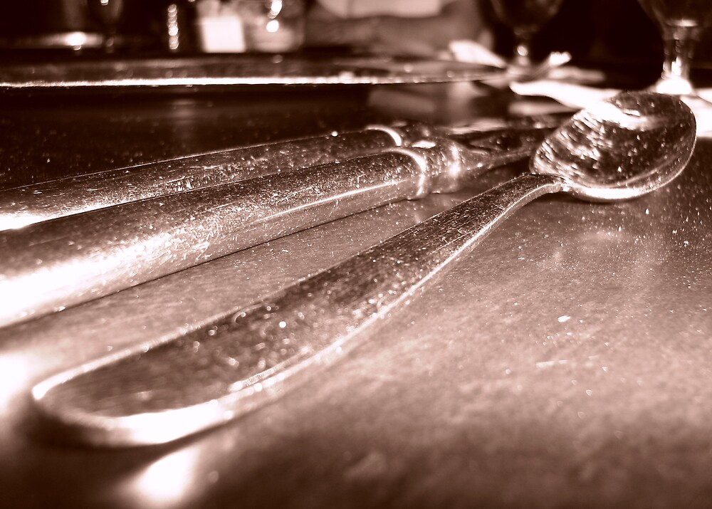 utensils in sepia by hubernews