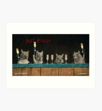 Will Bullas print / Squirrel's night out... Art Print