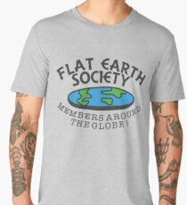 Flat Earth Society - Members Around The Globe Men's Premium T-Shirt